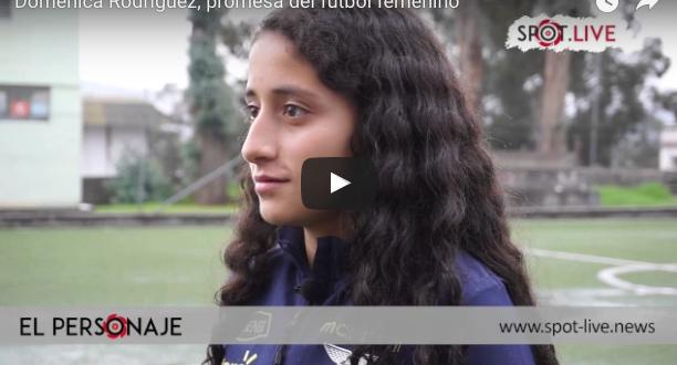 Doménica Rodríguez, promesa del fútbol femenino en el Ecuador