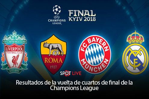 Resultados de la vuelta de cuartos de final de la Champions League